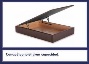 Canape polipiel gran capacidad.